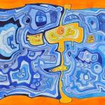 Face (blue/orange)